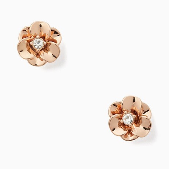 kate spade Jewelry - NWT~KATE SPADE~Shine on Flower Studs, Rose Gold